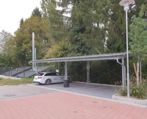 Heizwerk Mauer mit Carport